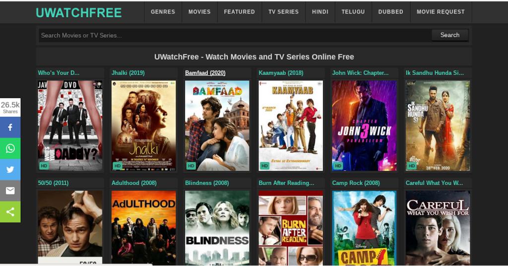 Uwatchfree से 2020 में - मूवीज और टीवी सीरीज ऑनलाइन देखें और डाउनलोड करें एकदम फ्री