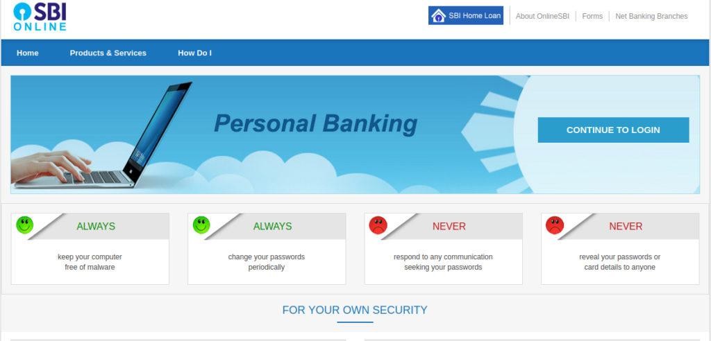Online SBI Net Banking