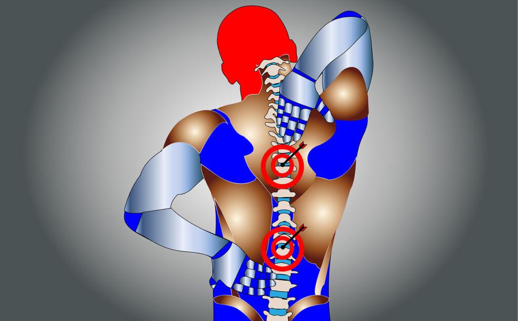 कमर दर्द पीठ दर्द Back Pain or backache या रीढ़ की हड्डी Spinal pain का दर्द